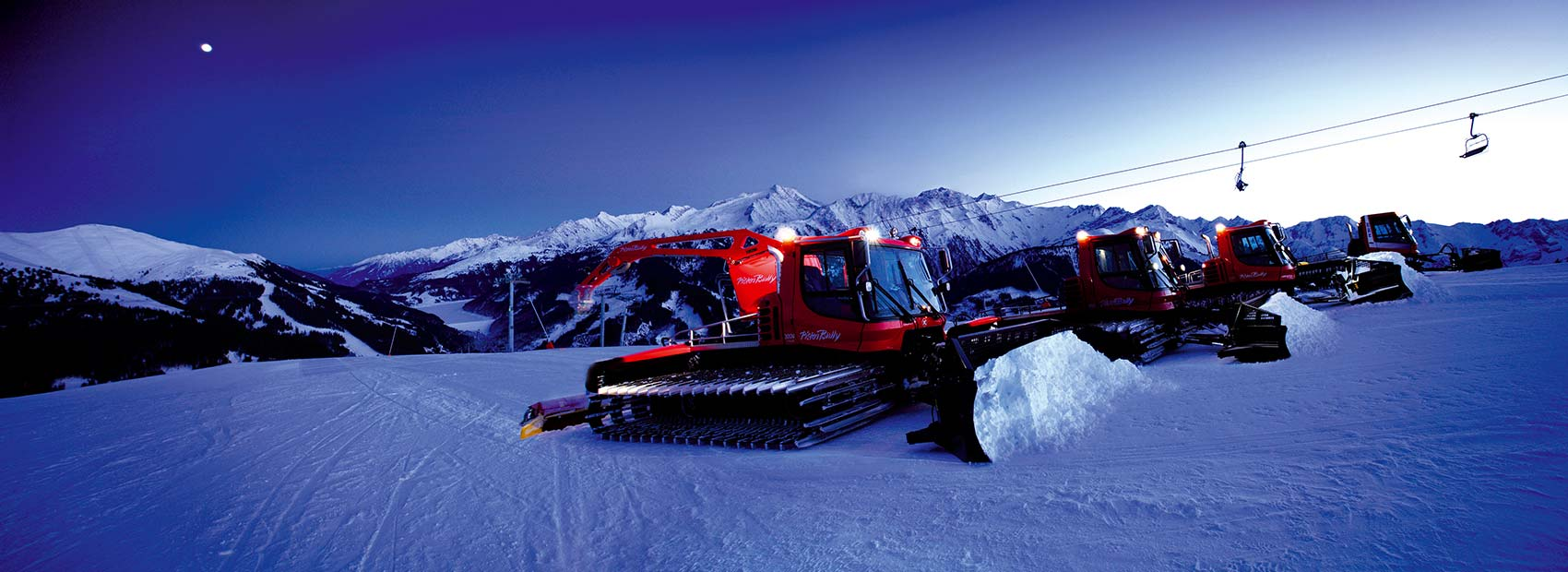 We prepare the slopes for you at night